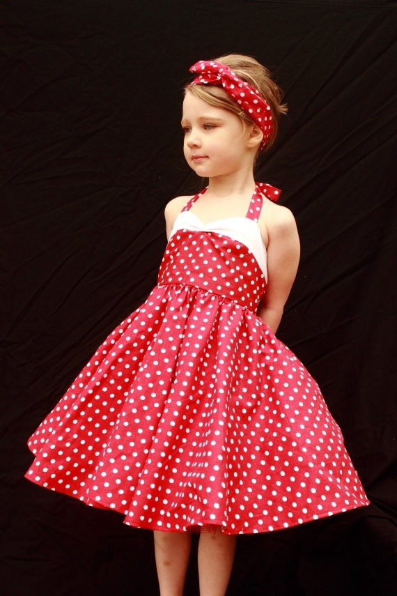 Teen Beach Movie  Red Vintage Style Polka Dot Dress