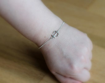 SALE, Anchor Bracelet, Sterling Silver Anchor Bracelet, Tiny Bracelet, Nautical Jewelry, Ocean Jewelry, Beach Jewelry, Bridesmaid Jewelry