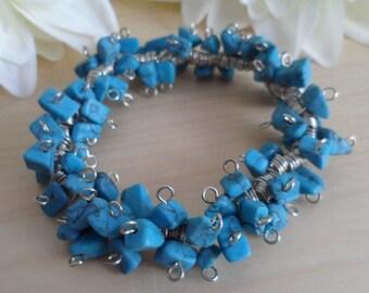 Blue Spiral Bracelet