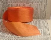 bright orange silk ribbon
