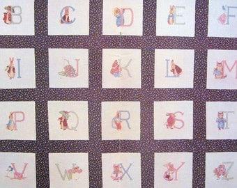 cross stitch chart instructions beatrix potter alphabet peter rabbit