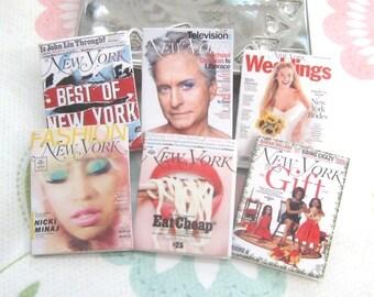 dollhouse New York magazines x 6 miniature 12th scale
