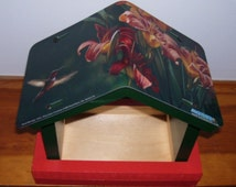 Hummingbird License Plate Bird Feeder/Mothers Day, Fathers Day, Anniversary, Birthday, Christmas, Garden, Outdoors