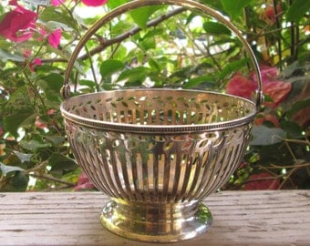 Authentic Tiffany & Co Sterling Silver Basket Vintage Bowl
