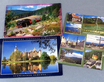 3 Old Postcards - Germany Mailed with Stamps - Set 2