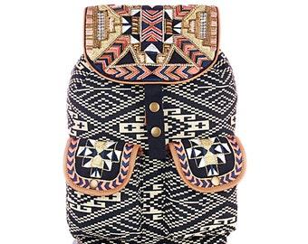Aztec Embellished Backpack