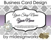 Business Card Design - Jewelry Business Card - Premade Business Card - Bling Business Card Design