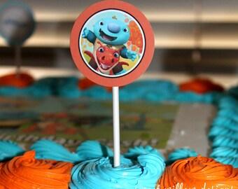 Wallykazam Birthday Cupcake Toppers, printable party, Wallykazam Birthday-By Sweet Willow Designs