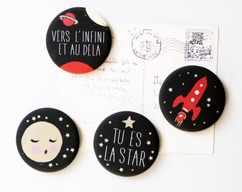 Set of 4 magnets night