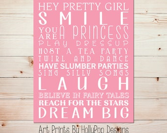 Girl art print Baby wall decor Nursery quotes Girls room decor Girl quotes Kids wall art Baby girl nursery Toddler girl bedroom art #0714