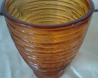 Collectible Glass E O Brody Brown Serving Glass Tumbler Juice Cup