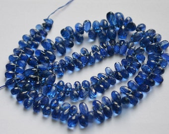 1/2 Strand Natural AAA Kyanite Drops Faceted