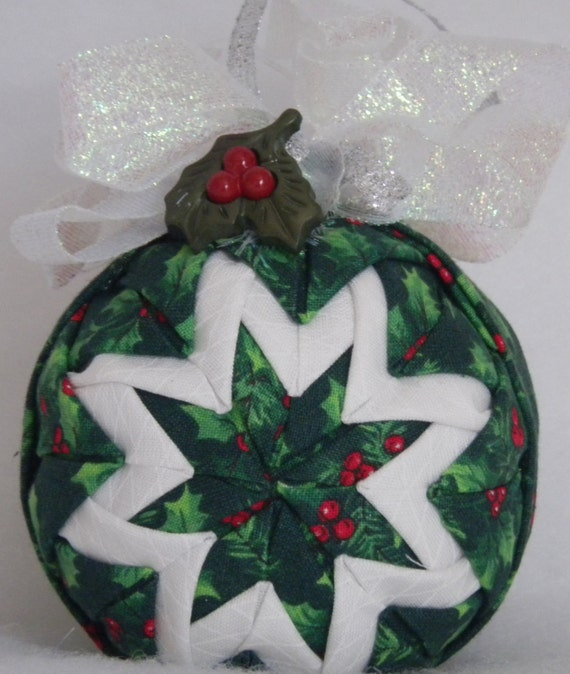 Items similar to clearance quilted christmas ornament for Christmas ornaments clearance
