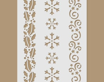 Winter pattern Stencil
