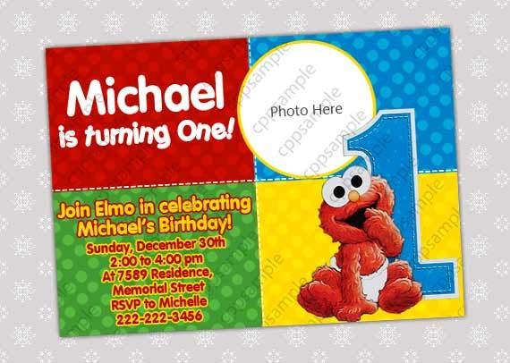 Dibujos Para Colorear De Elmo Bebe: Imagenes De Invitaciónes De Cumpleaños De Elmo Imagui