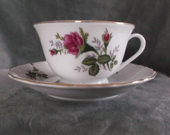 Vintage Fine China cup and saucer made in China