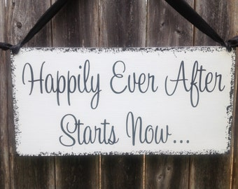 Happily Ever After Starts Now | Wedding Sign | Disney Themed Decor | Ring Bearer Flower Girl Sign | Bridesmaids signs | Destination Wedding