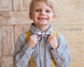 Boys bow tie suspenders set..boys cake smash outfit..toddler suspenders..wedding bow tie..kids bow tie set..ring bearer outfit..Boys Clothes