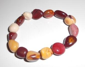 Vintage rock bracelet a stretch bracelet in desert colors 1980s southwestern jewelry