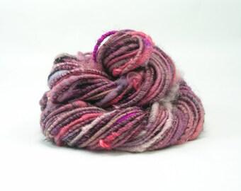 Bulky Yarn, Corespun Yarn, Bulky Yarn, Handspun Art Yarn, Art Yarn, Super Chunky Yarn, Bulky Yarn, Mixed Media, Weaving Yarn - Crazy Love