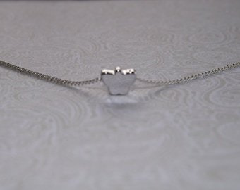 Tiny Butterfly Silver Necklace