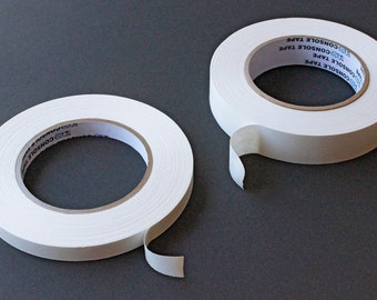 """White Artist's Tape - 1"""" or 1/2"""" x 60 yards"""