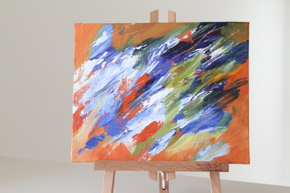 Expressionist Wall Art, Living Room Decor, Acrylic Painting, Summer Wind