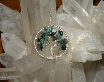 Green Fancy Jasper Tree of Life- Reiki Charged