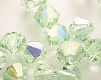 C025-200pcs Swarovski Crystal 5301 3mm-Chrysolite AB