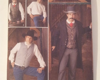 Simplicity Sewing Pattern 2895 Men's Wild West costumes in size 46, 48, 50, 52
