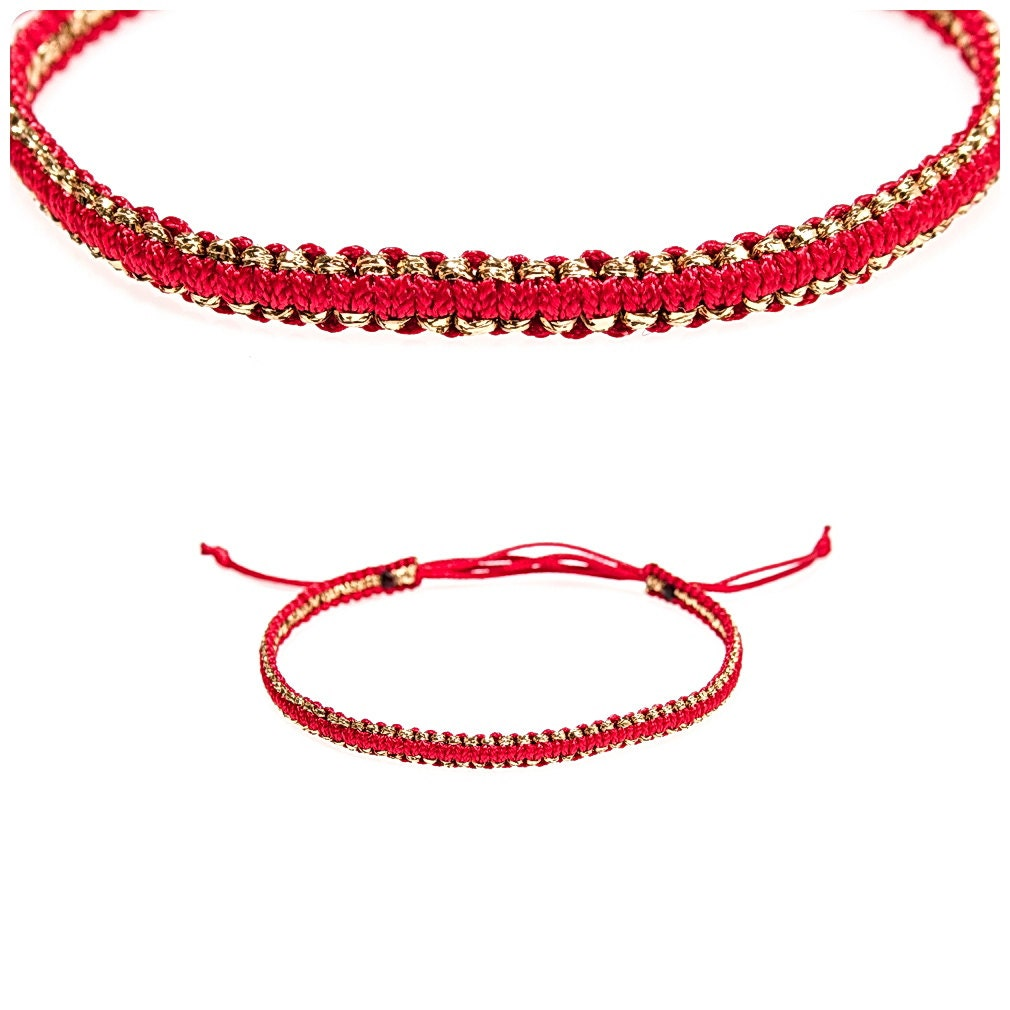 tiny gold kabbalah macrame bracelet modern bracelet