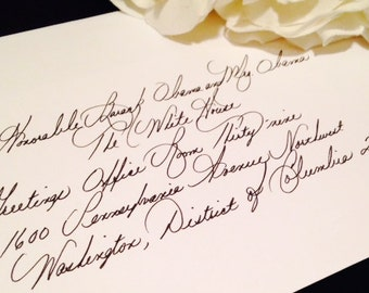 Wedding Invitation Envelope and Placecard Calligraphy by Hand  - Fine Penmanship Style