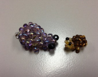 Glass beads turtle mama and baby