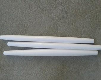 5 White Hairpipes, 4 inch  Bone  Ethnic Tribal Native American