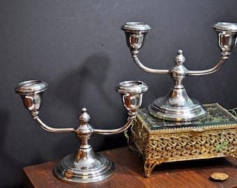 Gorham Sterling Candlestickes Pair,Reg. 125.00 Sale,  antique silver, vintage candlesticks, #203a