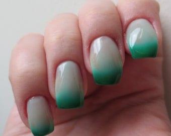 Ichor GREEN Color Changing Handmade Nail Polish