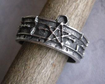 medieval pentagram ring, Gategram