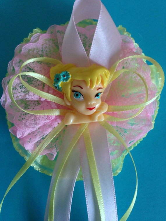 tinkerbell inspired corsage pin tinkerbell theme baby shower on etsy