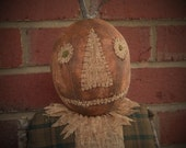 Primitive Pumpkin Doll, Pumpkin Doll, Primitive Pumpkin, Halloween Doll, Halloween Pumpkin, Primitive Scarecrow, OFG, HAFAIR, FAAP