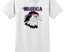 Murica Bald Eagle with Mullet T-Shirt 2000 - US-102T