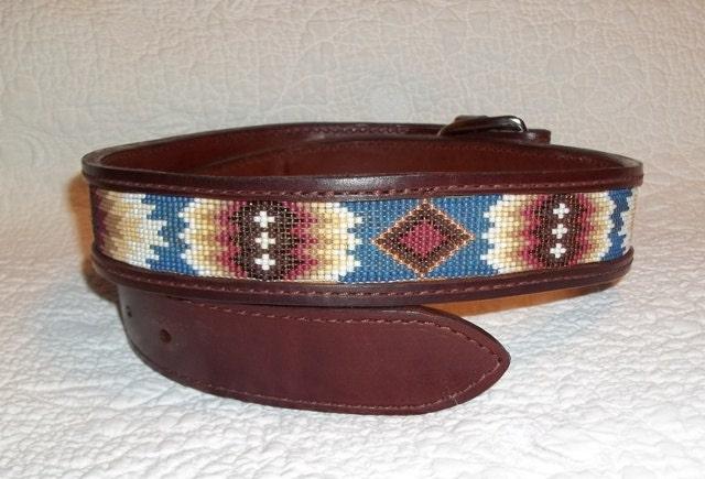 handmade beaded leather belt without by deesbeadeddogcollars