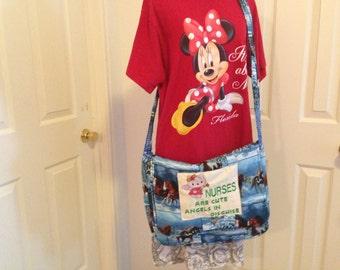Nurses Messenger Bags/ Horses print and Hello Kitty