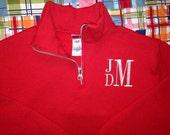 Boy's Monogram Quarter Zip Sweatshirt