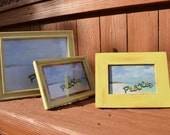 Yellow Sand Picture Frames Set (3)