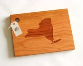 Custom City, State or Country Personalized Cutting Board