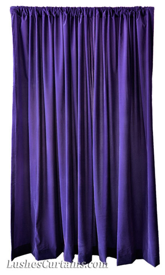 Purple Velvet 108 Inch Curtain Long Panels Wide Ready Made Size Pro ...