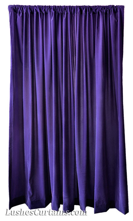 Purple Velvet 108 Inch Curtain Long Panels Wide Ready Made