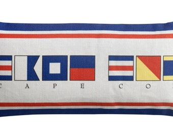 Cape Cod Signal Flag Nautical Sachet 10x4.5 with Balsam or Lavender