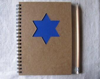 Star of David Peek-a-boo - 5 x 7 Journal- Your choice Peek a boo color