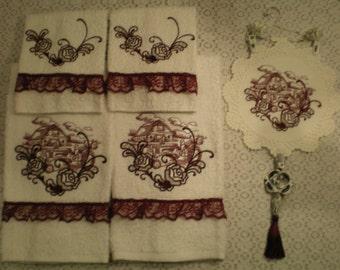 Victorian rose towel | Etsy